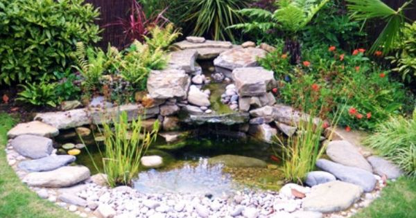 Garden water features ideas diy pond ideas water for Still pond garden design