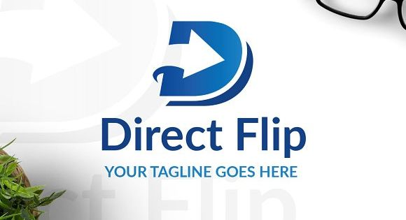 Direct Logo Template with Letter D