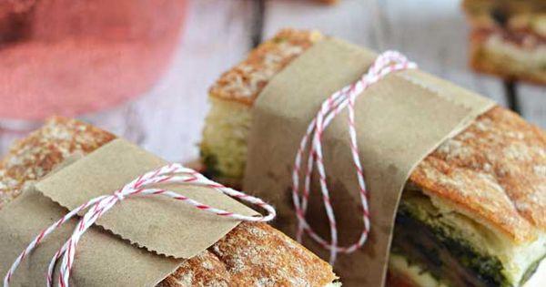 Eggplant, Prosciutto, & Pesto Pressed Picnic Sandwiches | Recipe ...