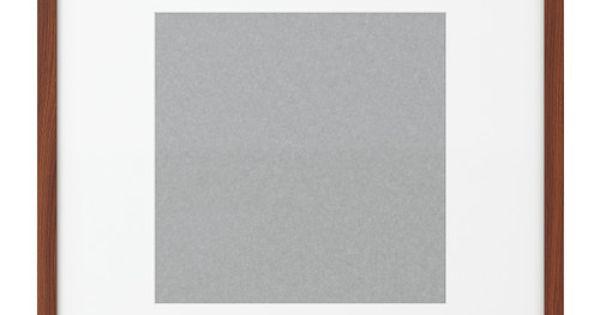 Ribba frame medium brown ikea product for Ikea ribba plank