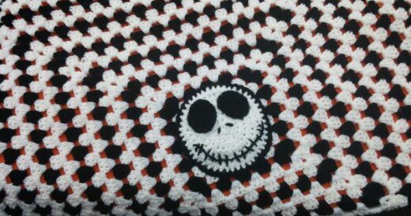 Jack Skellington Crochet Baby Blanket