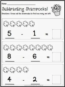 Kindergarten Math Worksheets St Patricks Day With A Freebie Kindergarten Math Worksheets March Kindergarten Kindergarten Math
