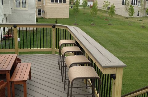 Not A Difficult Modification Turn Your Deck Railing Into