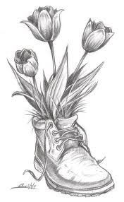 Tulips Drawing Pesquisa Google Pencil Drawings Of Flowers Flower Sketches Art Drawings Sketches