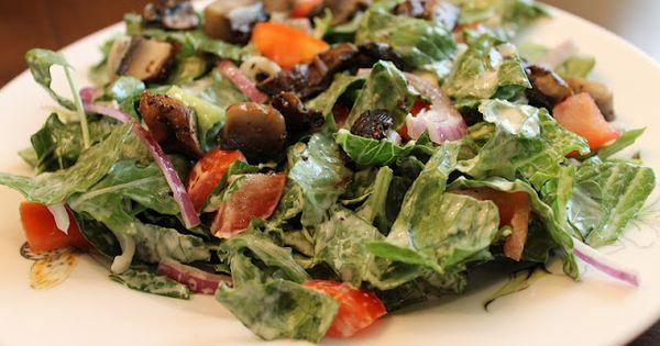 Vegan caesar dressing, Mushroom salad and Portobello on Pinterest