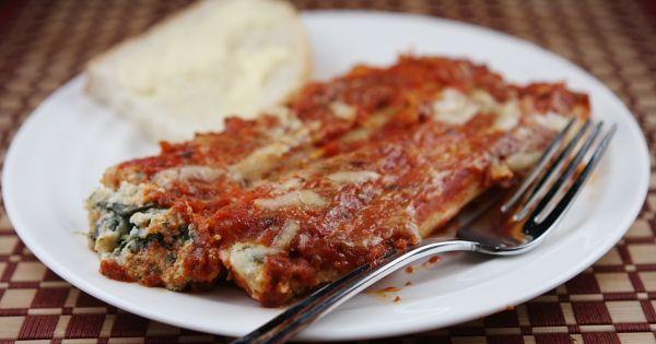 Spinach and Cheese Stuffed Manicotti | Recipe | Stuffed pasta shells ...