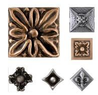 Collection Of Metal Tiles Accents In 1x1 And 2x2 Inch Sizes