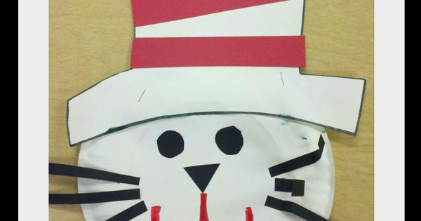 Cat in the Hat paper plate craft. We should try this so