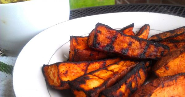 chili lime grilled sweet potato wedges