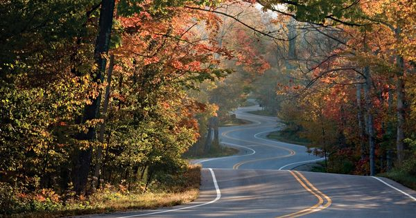 Three Fall Drives In Wisconsin Door County Great River