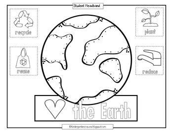 My Earth Day Headband Earth Day Worksheets Earth Day Earth Earth day worksheets for esl students