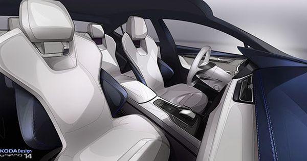 Skoda Vision C On Behance Car Interior Design Concept Car Interior