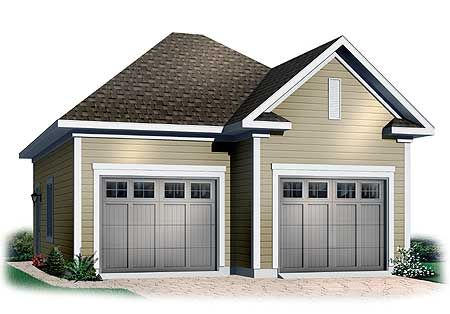 Plan 21196dr Two Car Garage With Free Bonus Two Car Garage Garage Design Garage Plan