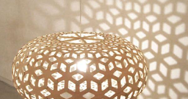 h ngelampe modern f r innenbereich holz snowflake by david trubridge moaroom lampen und. Black Bedroom Furniture Sets. Home Design Ideas