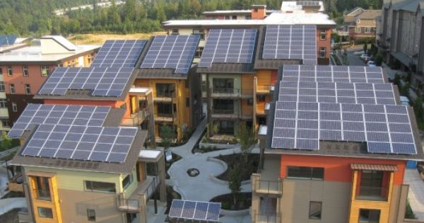 Zero Energy Community In Washington Zhome Is Built In A Transit Oriented Development East Of Seattle In The Suburban Solar Panels For Home Solar Solar Panels