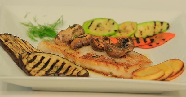 Cbc Sofra طريقة تحضير فيليه مشوي بالخضار هشام السيد Recipe Food Seafood Vegetables
