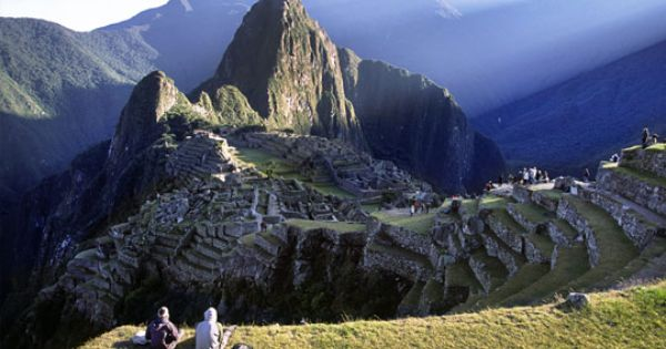 Machu Picchu Peru The Fabled Lost City Of The Incas Sprawls On A Jungle Ridge In The Andes