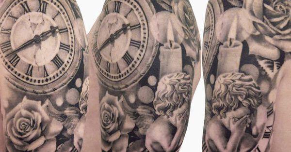 realism time tattoo by speranza tatuaggi tattoo no 6719. Black Bedroom Furniture Sets. Home Design Ideas