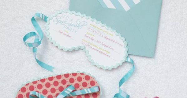 spa party invites - cute kid party idea.