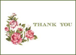 Vintage Flowers Printable Thank You Cards Printable Thank You Cards Flower Printable Free Printable Cards