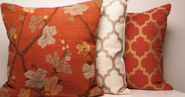 Copper Pillow Cover Orange Pillow Burnt Orange Pillow