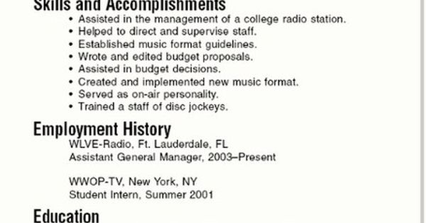 a resume examples