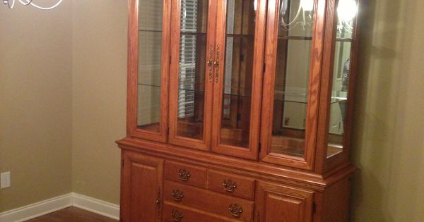Solid Oak American Drew China Cabinet I Found Off Of