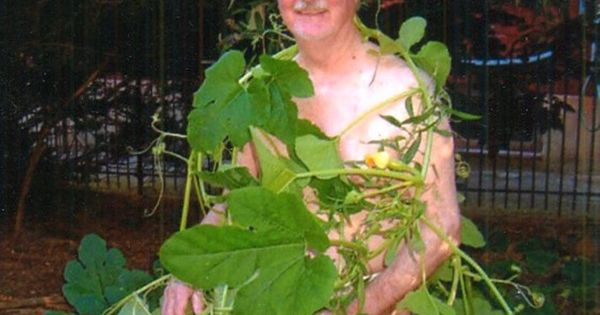 This Adam is looking for his Eve! Why wear clothes when you can cover yourself up with some strategically placed leaves?
