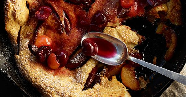 Peach Dutch Baby Pancake with Cherry Compote | Favorite Recipes ...
