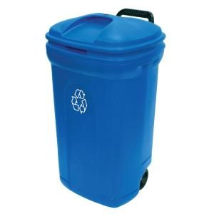 Rubbermaid Roughneck 32 Gal Outdoor Recycling Bin 1792641 The Home Depot Recycling Bins Outdoor Trash Cans Trash And Recycling Bin