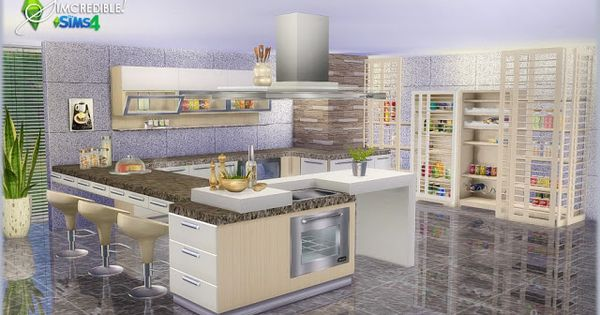 Sims 4 CC's - The Best: Kitchen Set by SIMcredible! Designs  Sims 4 CC's - The Best ...