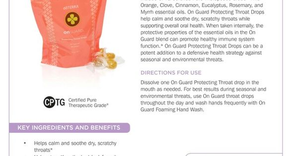 doterra on guard protecting throat drops pdf