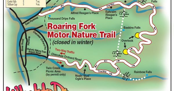 Roaring Fork Motor Nature Trail Map Tennessee