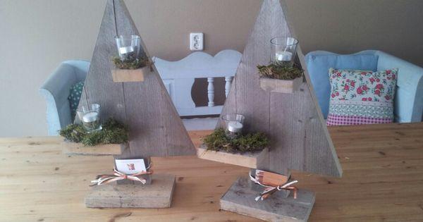 Mooie kerst decoratie van steigerhout te koop bij arno 39 s houtenmeubels voor 15 euro per stuk for Decoratie stuk om te leven