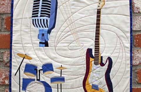 Music Quilt Guitar Drums Microphone Quilt Patterns Whims And Fancies Quilts