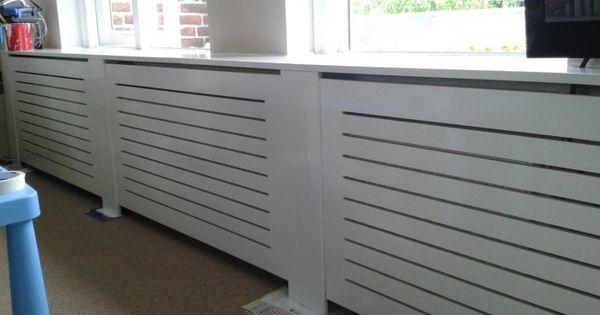Zelf gemaakte radiator ombouw uit mdf radiator cover pinterest radiators - Coin bureau ontwerp ...
