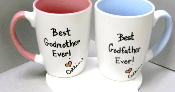 Baptism Gift For Godparents Christening Gift Godparents: Godfather Mug Godmother Mug Godparents Mugs Gift For