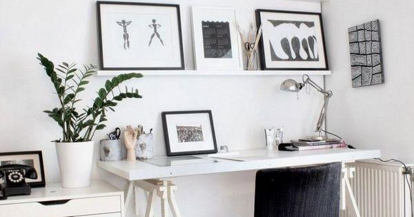 Comment meubler et d corer un bureau scandinave blanc et romantique bureau scandinave chaises - Decorer un bureau ...