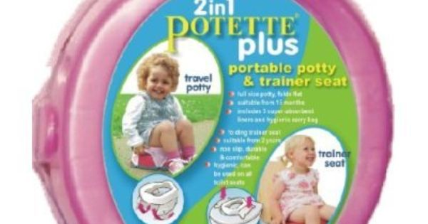 Kalencom 2 In 1 Potette Plus Portable Girl S Potty Toilet Training Seat With 30 Potty Liners Set Amazon Baby Travel Potty Portable Potty Potty Trainer