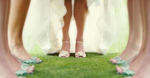 perfect shot to get the bridesmaids and Bride shoes in!!... But with