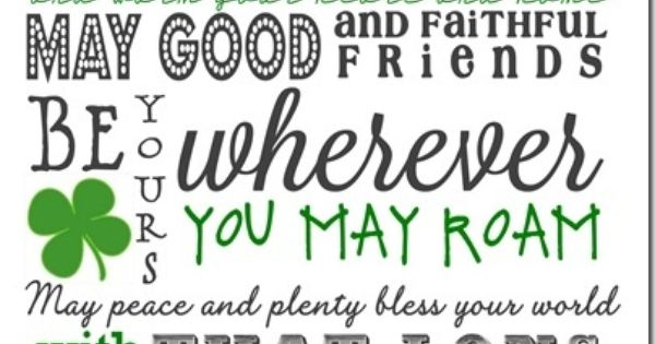 St. Patrick's Day Subway Art, Free Printable, Irish Blessing Sign