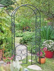 Titan Garden Arch 7 Tall Black Metal Gardeners Com Garden