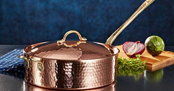 New Demmex 1 5mm Thick Heavy Gauge Hammered Copper Sautep Http Www Amazon Com Dp B01f15s5aa Ref Cm Sw R Pi Dp Mk2sxb04 Copper Farm Kitchen Copper Cookware