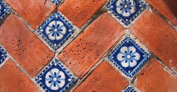 Mexican tiles, brick pattern