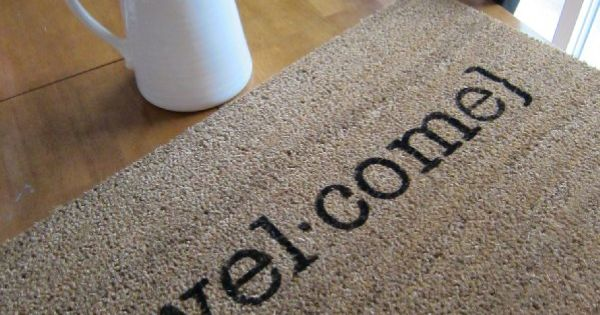 Welcome mat house warming gift