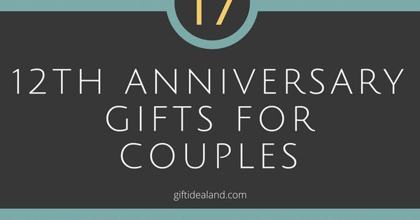 12th Wedding Anniversary Gift Ideas For Him & Her Wedding, Couple ...