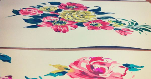 Love these floral illustrations from Working Girl Designs