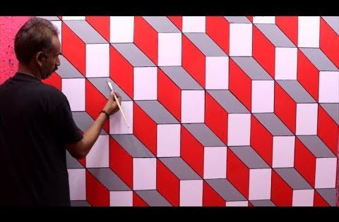 Optical Illusion 3d Wall Design 3d Wall Painting 3d Wall Decoration Effect Interior Design Youtube 3d Wall Painting Wall Paint Designs 3d Wall
