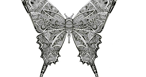 Papillon - Artwok By Bleeken #doodle #insect