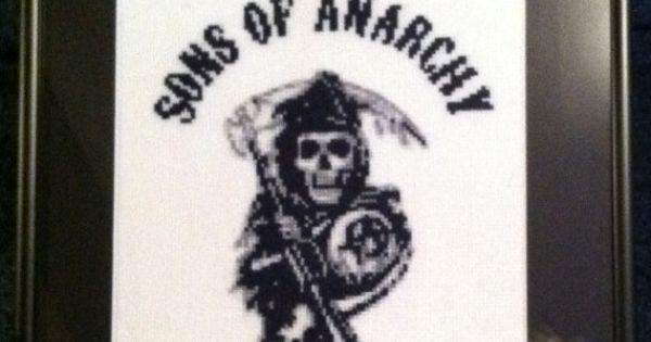 Sons Of Anarchy Reaper Cross Stitch Picture By